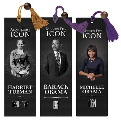 ICONS OF CHANGE BOOKMARK SET, HARRIET TUBMAN, BARACK OBAMA, AND MICHELLE OBAMA