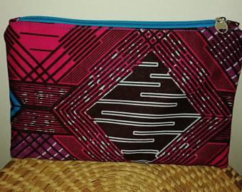 NSSA AFRICAN PRINT COSMETIC BAG