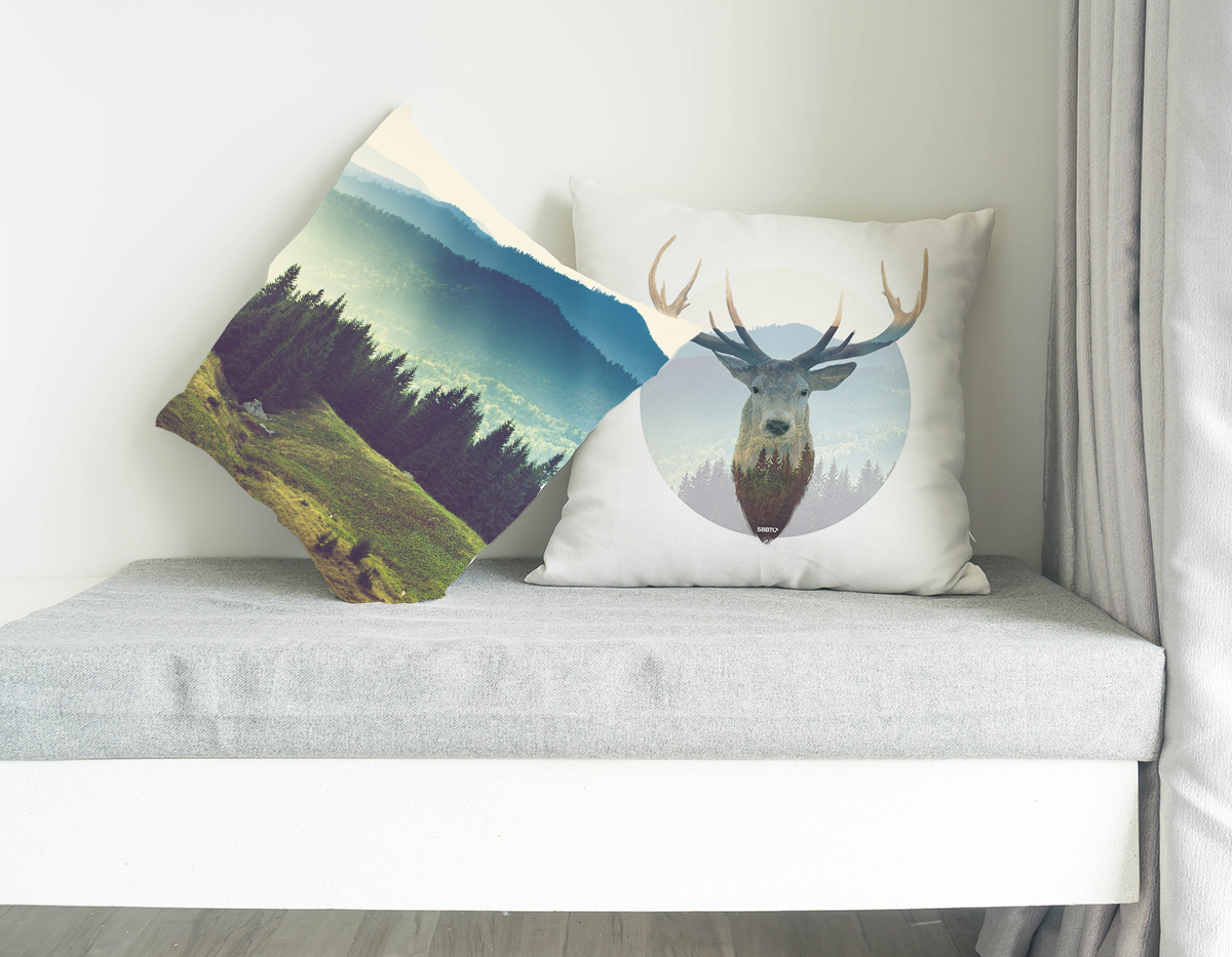 Deer and Mountains, SBBTO Pillow Case 00060