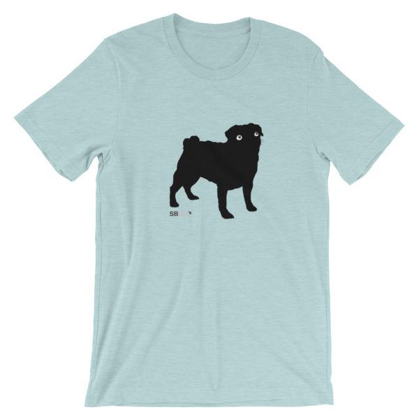Pug Vision Silhouette, SBBTO Short-Sleeve Unisex T-Shirt 00047