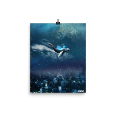 Weightless, whale floating, dream-like SBBTO Poster