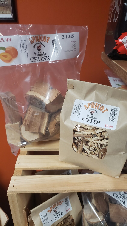 Wood, Apricot Chip 1lb