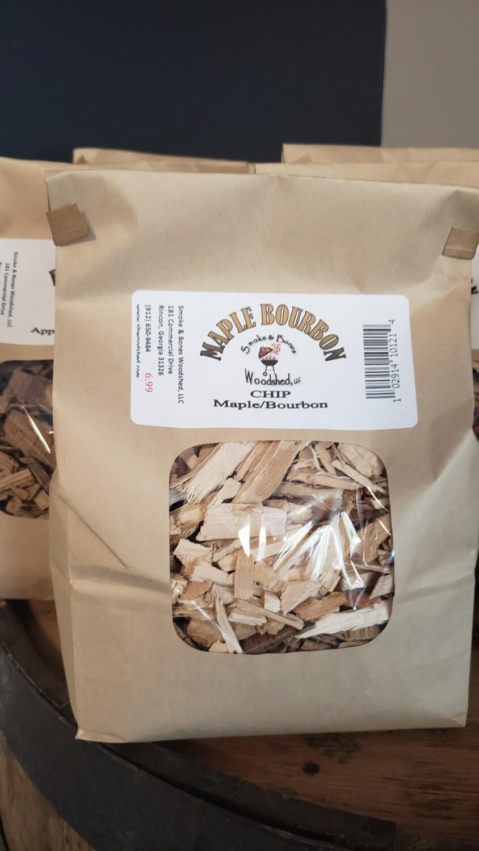 Wood, Maple Bourbon Chip 1lb