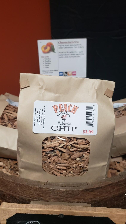Wood, Peach Chip 1lb