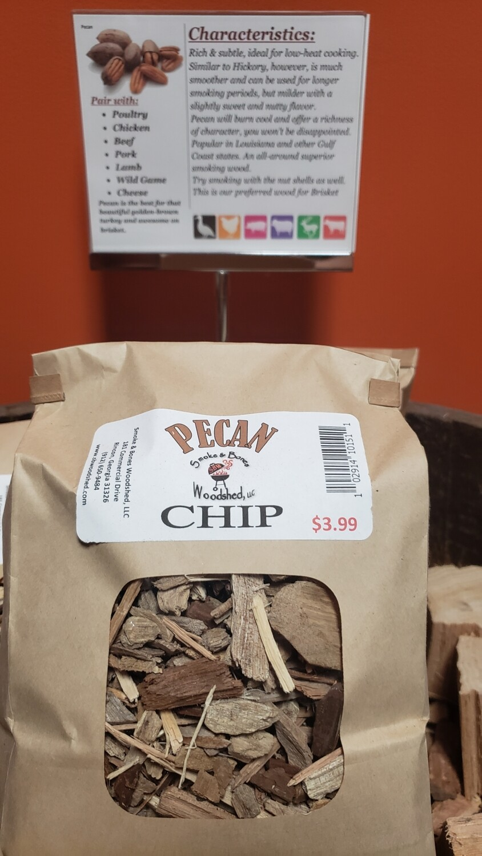 Wood, Pecan Chip 1lb
