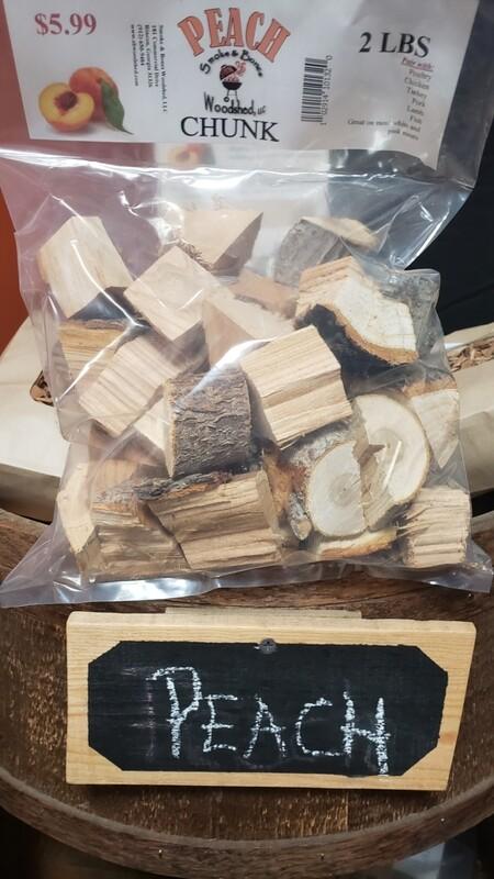 Wood, Peach Chunk 2lb