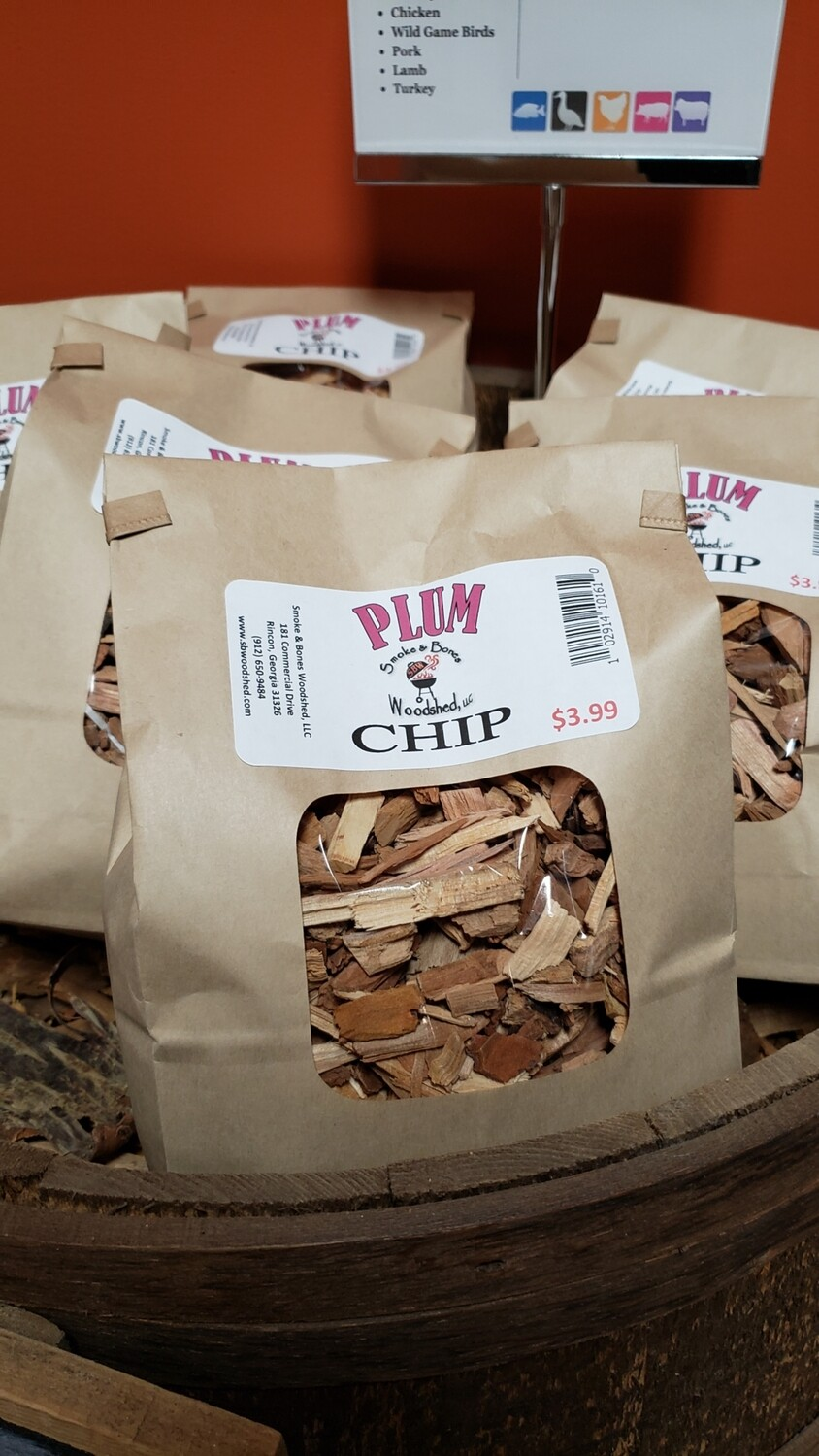 Wood, Plum Chip 1lb