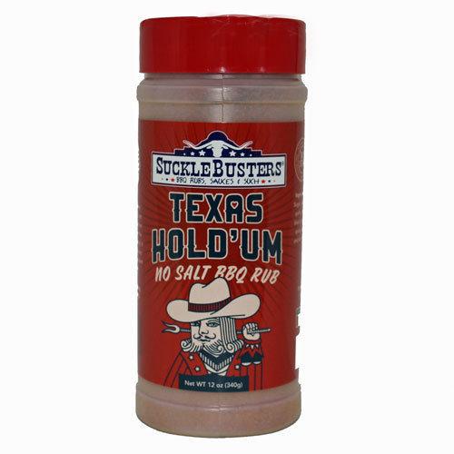 Suckle Busters, Texas Hold'um Rub NO SALT 12oz