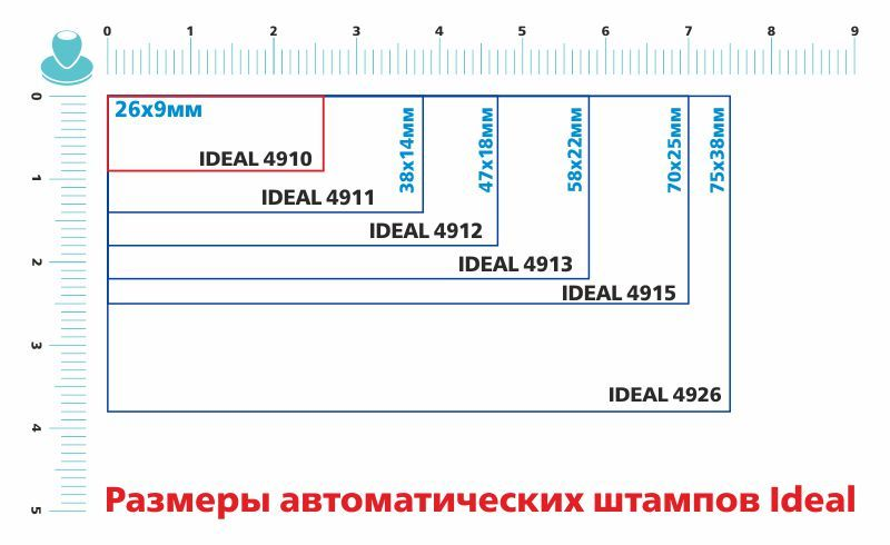 Штамп Автоматический Trodat printy 4910 Размер поля 26х9мм.