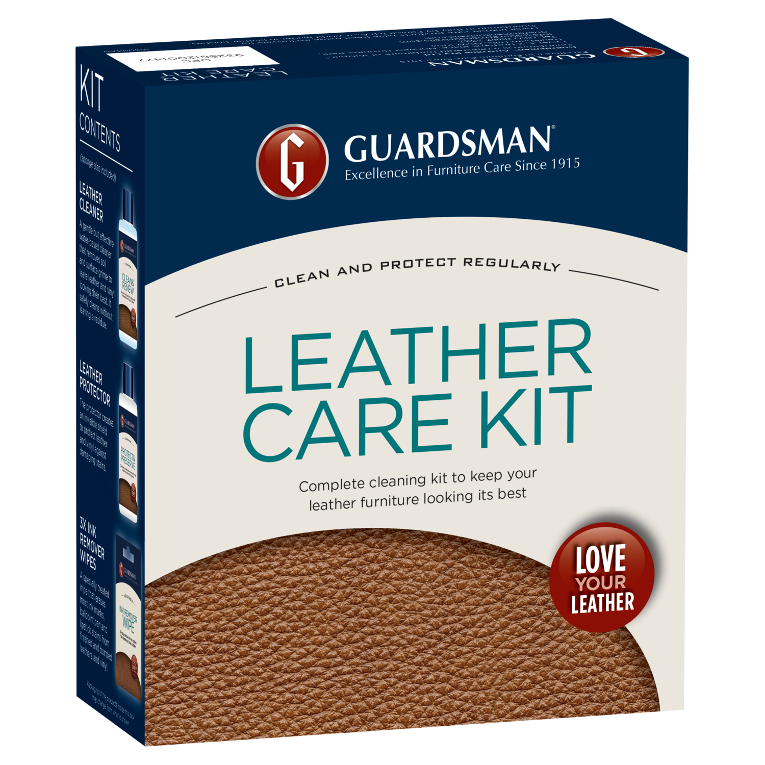 LEATHER CLEANER Guardsman Leather Care Kit for Cleaning Leather Products
