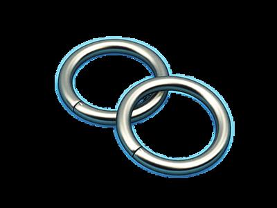 Кольцо диам. 16 мм металл. ковровое