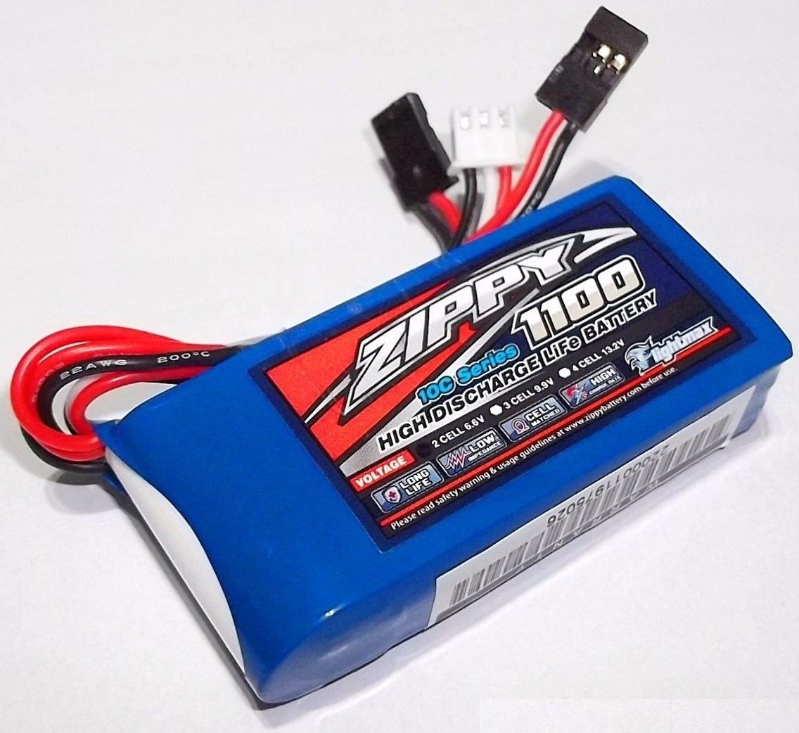 Zippy Flightmax 1100mAh 6.6v LiFePo4 2S1P Receiver Pack