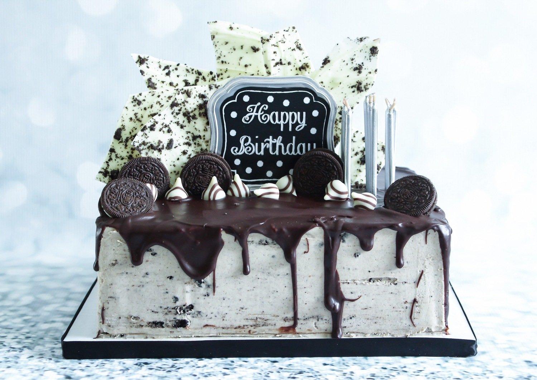Fantastic Cookies And Cream 1 4 Sheet Birthday Cake Local Pickup Funny Birthday Cards Online Hendilapandamsfinfo