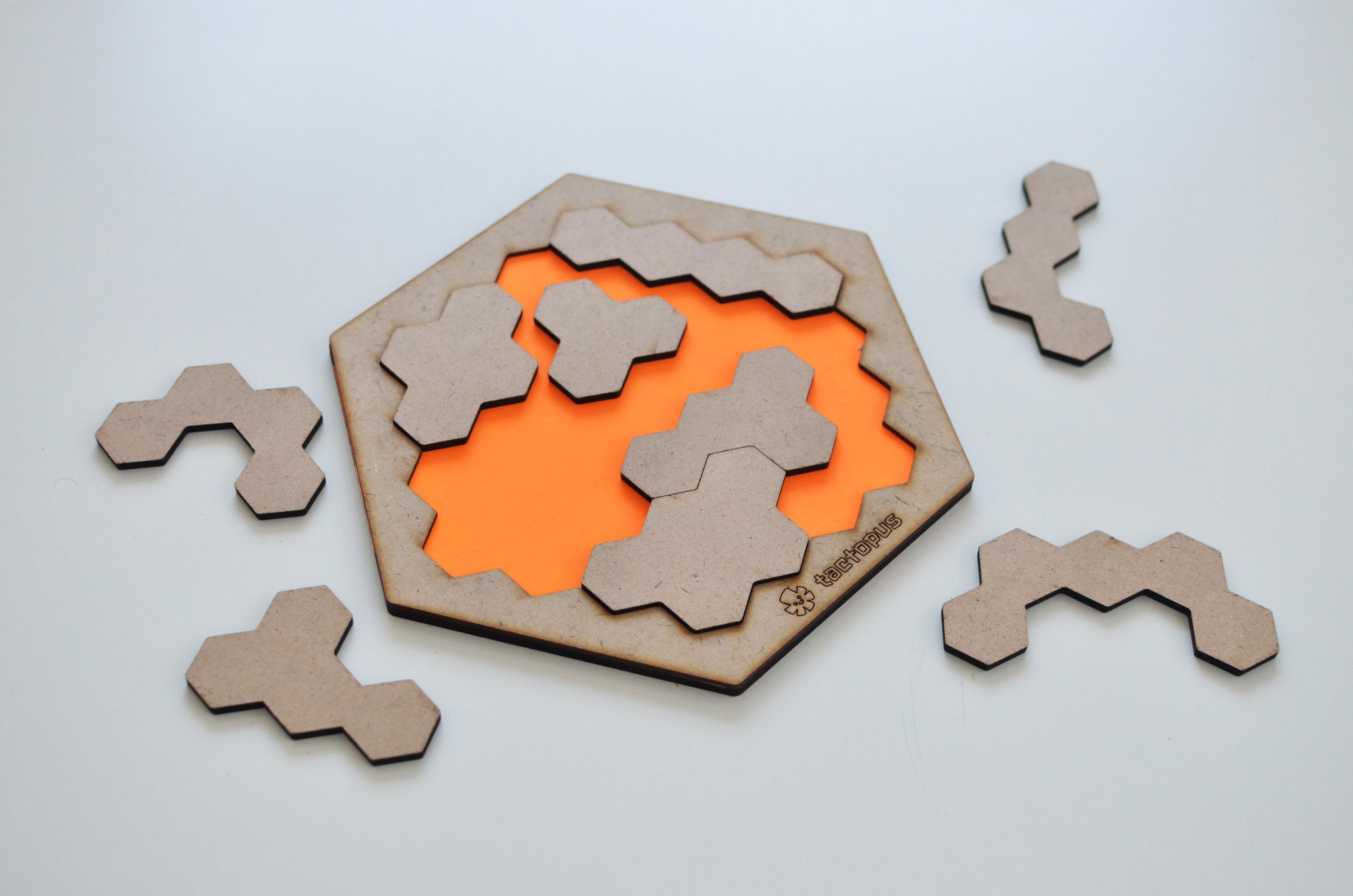 Hexagonal Tetris Puzzle Board