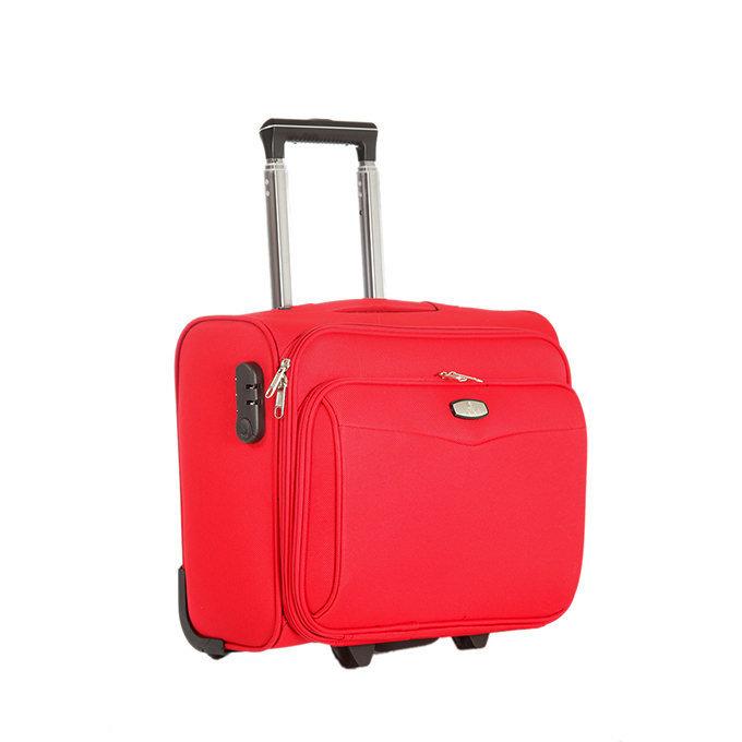 Trolley da cabina pilotina in tessuto rosso