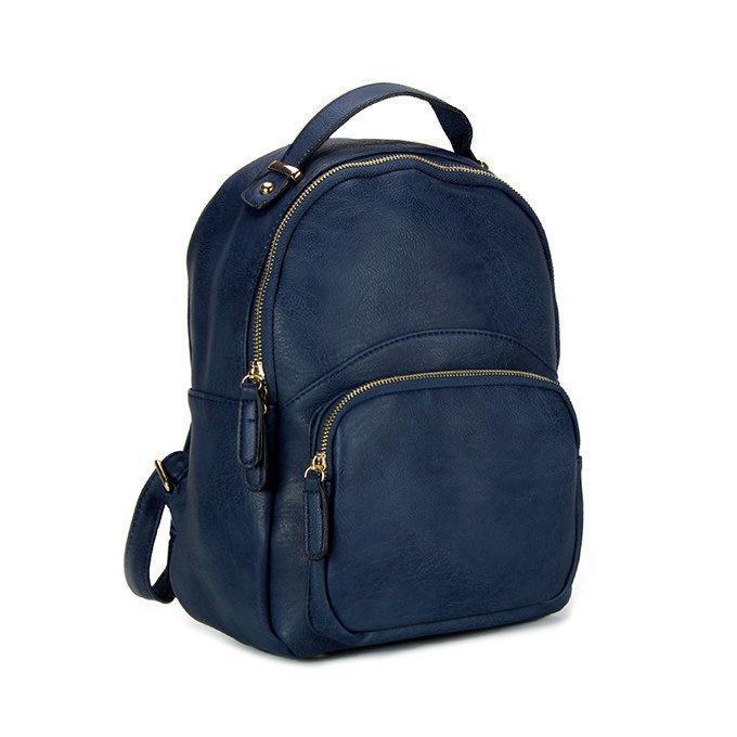 Zaino c/tasca frontale blue