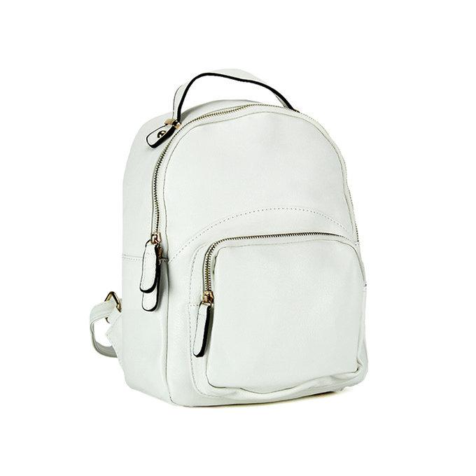 Zaino c/tasca frontale white