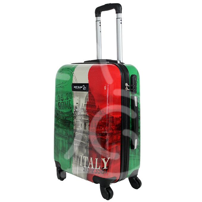 Trolley da cabina  justglam  ultraleggero  50cm fantasia tricolore