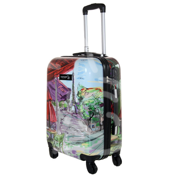 Trolley da cabina  justglam  ultraleggero  50cm fantasia parigi dipinta
