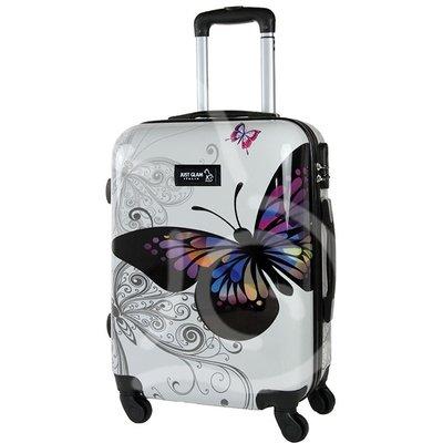Trolley da cabina  justglam  ultraleggero  50cm fantasia farfalla