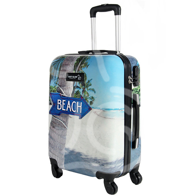 Trolley da cabina  justglam  ultraleggero  55cm fantasia beach