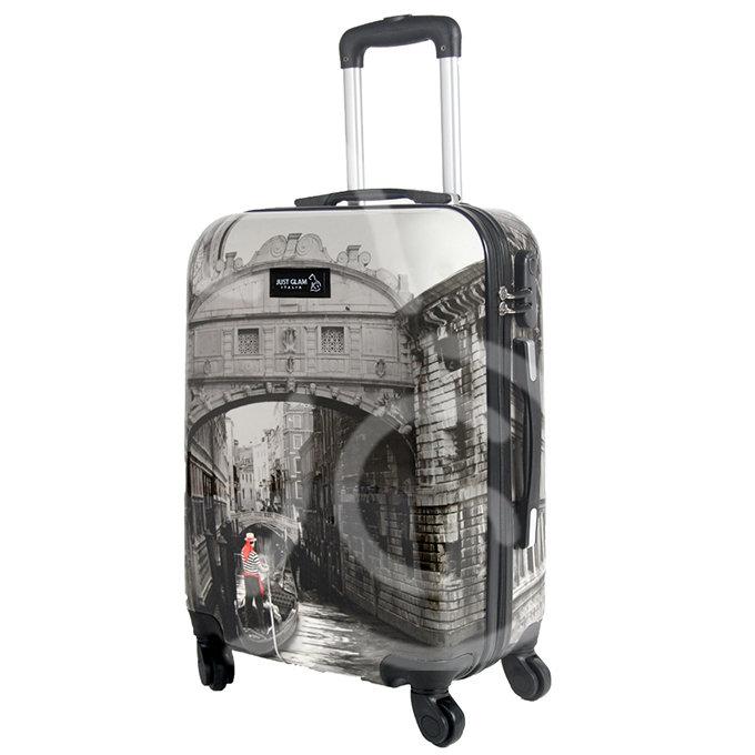 Trolley da cabina  justglam  ultraleggero  55cm fantasia venezia