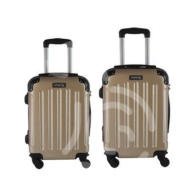 Coppia di 2 trolley da cabina mis.50 e 55 cm champagne