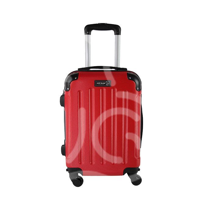 Trolley da cabina  justglam  ultraleggero  55cm rosso