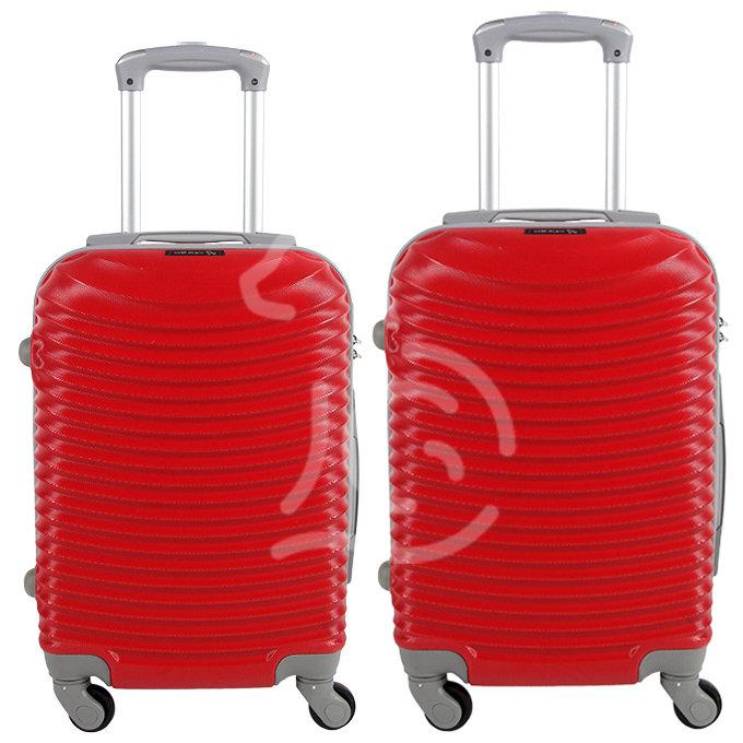 Coppia di 2 trolley da cabina mis.50 e 55 cm rosso
