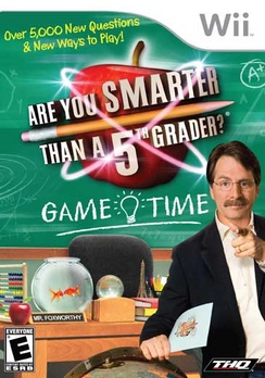 Are You Smarter Than A Fifth Grader Game Time - Wii - Used