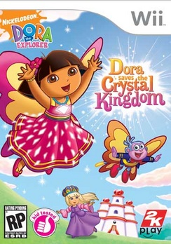 Dora The Explorer Save The Crystal Kingdom - Wii - Used