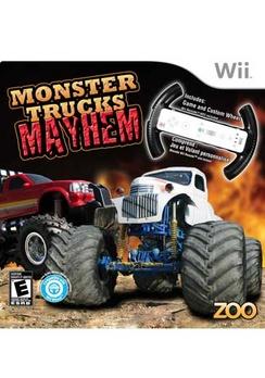 Monster Trucks Mayhem With Wheel - Wii - Used