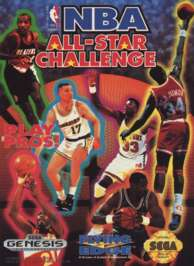 NBA All-Star Challenge - Sega Genesis - Used