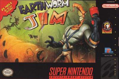 Earthworm Jim - SNES - Used