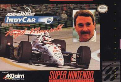Newmann Haas' Indy Car featuring Nigel Mansell - SNES - Used