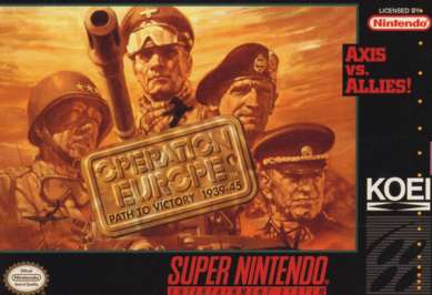 Operation Europe: Path to Victory 1939-45 - SNES - Used