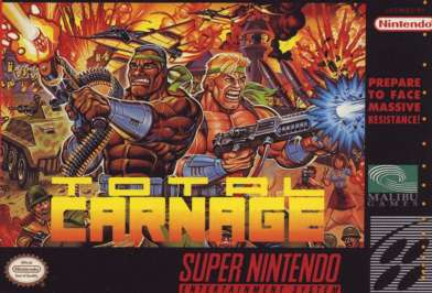 Total Carnage - SNES - Used