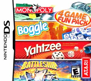 Monopoly, Boggle,  Yahtzee , Battleship: 4 Game Fun Pack - DS - Used