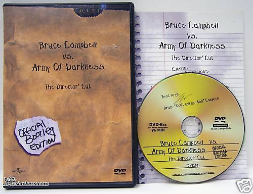 Army of Darkness The Director's Cut Official Bootleg Edition - DVD - Used