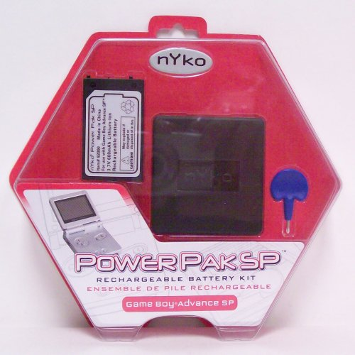 Nyko Power Pak SP Rechargable Battery Kit for GBA SP - Game Accessory - New