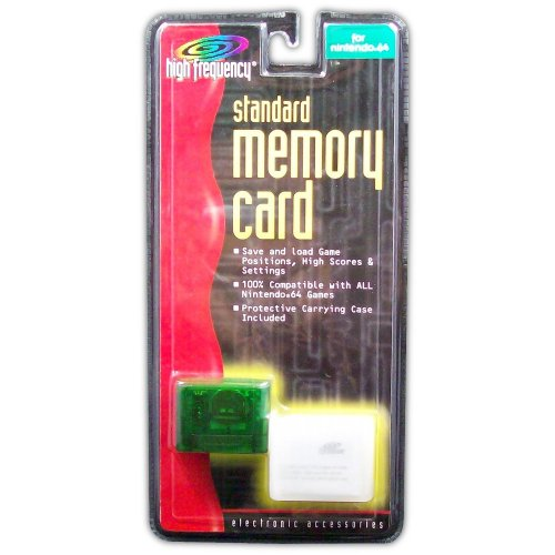 Memory Card for N64 (green) - Game Accessory - New
