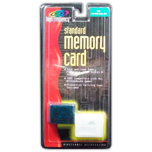 Memory Card for N64 (light blue) - Game Accessory - New