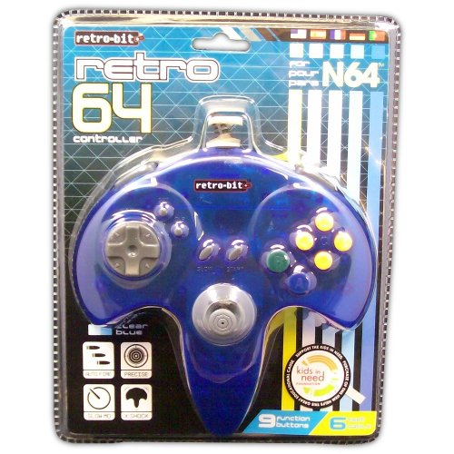 Retro 64 Controller for N64 (blue) - Game Accessory - New