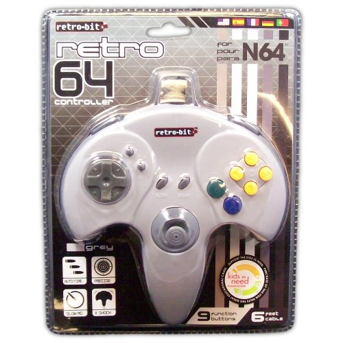 Retro 64 Controller for N64 (grey) - Game Accessory - New