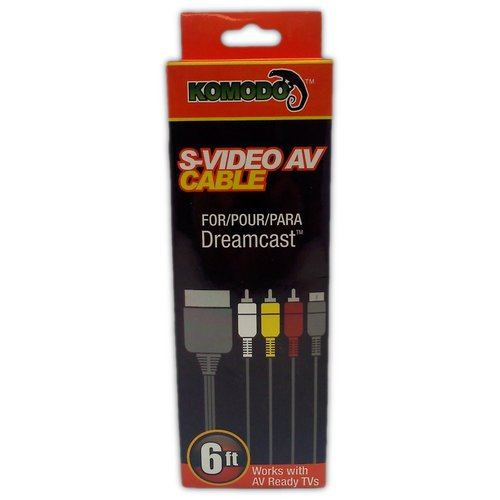 Komodo S-Video & AV Cable for Dreamcast - Game Accessory - New