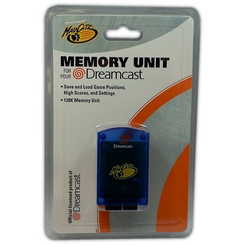 MadCatz Memory Unit for Dreamcast (Blue) - Game Accessory - New
