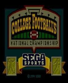 College Football's National Championship - Sega Genesis - Used