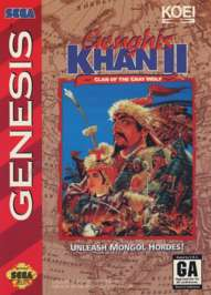 Genghis Khan II: Clan of the Gray Wolf - Sega Genesis - Used