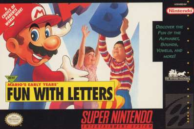 Mario's Early Years: Fun With Letters - SNES - Used