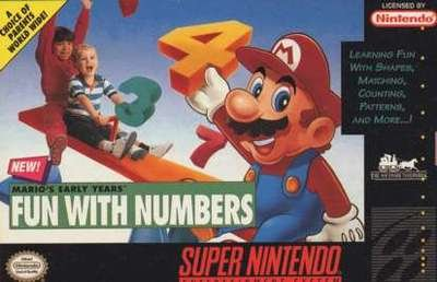 Mario's Early Years: Fun With Numbers - SNES - Used